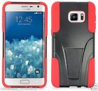 BLACK & RED T-Stand Hybrid Cover for Samsung Galaxy S6 Edge Plus
