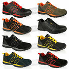 MENS STEEL TOE CAP LEATHER WORK SAFETY OUTDOOR LIGHTWEIGHT TRAINERS SHOES SIZE