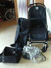 Bugaboo Cameleon 3 Black Chassis NEW black fabrics Carrycot Hood Apron FREE POST