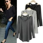 Womens Ladies Loose Long Sleeve T-Shirt Cotton Casual Blouse Tops Fashion Blouse
