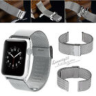 38mm 42mm Milanese Loop Stainless Steel Replacement Band+Adapter For Apple Watch