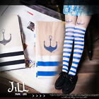 lolita summer adventure maritime anchor sailor girl striped pantyhose J1B023