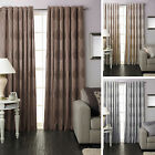"Riva Home Dalby Fully Lined Ready Made 66x72"" Ring Top Eyelet Curtains"