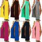 Sale Colorful Popular Trends High Waisted Double Slits Sexy Women Maxi Skirt DZ8