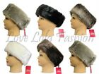 Ladies Faux Fur Headbands Fur Lined Ski Earwarmers Earmuffs Winter Fashion 4""