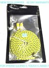 10FT LONG Flat Braided Fabric data sync USB Charger Cable for IPHONE 6 PLUS 5S C