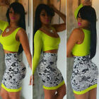 FREE SHIP CHEAP Women Crop Top Skirt Set Sexy TWO PIECE SET Mini Dress Clubwear