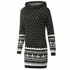 adidas Pattern Hooded Dress Pulloverkleid Strickkleid Pullover mit Kapuze