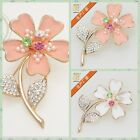 Fashion Flowers Corsage Brooch Pins Clothes Accessories Christmas Gift Art Deco
