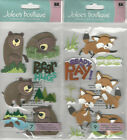 U CHOOSE  Jolee's BEAR FOX 3D Stickers animals
