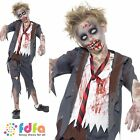 CHILD ZOMBIE BLOODY SCHOOL BOY HALLOWEEN - kids boys fancy dress costume