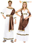 Mens Womens Roman Toga Caesar Venus Greek Grecian God Fancy Dress Costume Couple