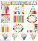 Rainbow Birthday Party Tableware Decorations Supplies Kids Adult Celebrations