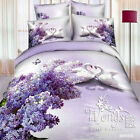 Swan Double/Queen/King Bed Quilt/Doona/Duvet Cover Set New Cotton Linen Floral
