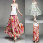 Womens Boho Tropical Hawaiian Sea Beach Dress Summer Casual Maxi Long Skirt