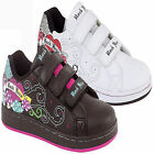 NEW WOMENS LADIES GIRLS CASUAL VELCRO SCHOOL TRAINERS SHOES SPECIAL SIZES 13-5UK