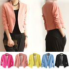 Women's Candy Color Korea Fashion Solid Slim Casual Suit Blazer Coat Jacket Hot