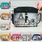Women Crossbody Bag Vintage Print Faux Leather Shell Shoulder Messenger Bags