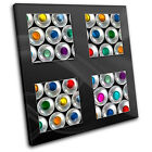 Spray Cans Graffiti   Abstract CANVAS WALL ART Picture Print VA