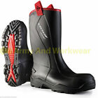 DUNLOP PUROFORT+RUGGED F/SFTY RIGGER WELLINGTON WORK BOOTS STEEL TOE SOLE MENS
