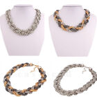 Elegant Women's Chunky Twisted Chain Bohemia Punk Fashion Choker Collar Necklace