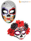 Ladies Day Of The Dead Mexican Sugar Skull Mask Halloween Fancy Dress Costume