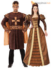 Mens Ladies Tudor King Queen Costume Medieval Historical Fancy Dress Couples