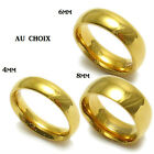 New Men Women 18k Gold Plated Ring Wedding Band Size 6 to 13 4mm 6mm 8mm
