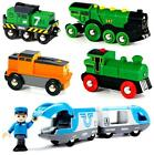 BRIO BATTERY POWERED WOODEN MAGNETIC TRAIN ENGINE FOR RAILWAY TRACK TOY PLAY SET