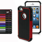 Heavy Duty Combo Hybrid Rubber Matte Hard Case Cover For Apple iPhone 5 5S 6 6 +