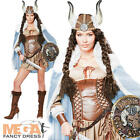 Deluxe Viking Vixen Ladies Fancy Dress Womens Adult Medieval Costume Outfit New