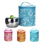 Korean Cute Flore Insulated Lunch Portable Carry Tote Picnic Storage Bag