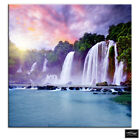 Waterfall Sunrise  Landscapes BOX FRAMED CANVAS ART Picture HDR 280gsm