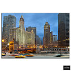 Chicago Cityscape   City BOX FRAMED CANVAS ART Picture HDR 280gsm