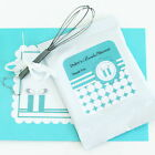 48 Personalized Something Blue Theme Hot Cocoa Mix Pouches Wedding Favors