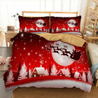 Christmas Man Quilt/Duvet/Doona Cover Set 100% Cotton Queen/King Single Bed Size