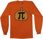 Threadrock Men's Pumpkin Pi Long Sleeve T-shirt Geek Funny Halloween Nerd