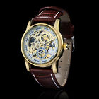 Orkina Gold White Skeleton Men Sport Army Automatic Mechanical Watch