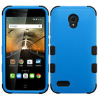 For Alcatel One Touch Conquest Blue Black Tough Case Cover