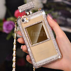 New Bling Diamond Perfume Bottle Handbag TPU Case Cover For iPhone 5/5S 6/6plus