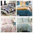 Single/Double/Queen/King Size Bed Quilt/Duvet Cover/ Pillow Cases Set New Cotton