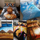 FOREST TREES WOOD SURFER PYRAMIDS FESTIVAL BUDDHA QUILT DUVET COVER BEDDING SET