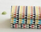 Mini triangles 100% Cotton Fabric / All sizes / Quilting fabric cuts (fft261)