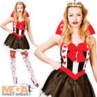 Queen Of Hearts Ladies Fairytale Fancy Dress Womens World Book Day Adult Costume
