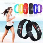 Boys Girls Candy Color Silicone Rubber Band Led Digital Sport Quartz Wrist Watch