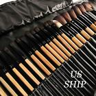 32pcs Professional Soft Cosmetic Eyebrow Shadow Makeup Brush Tool Set Kit Bag US
