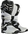 NEW FOX RACING COMP 8 MX DIRT BIKE MOTOCROSS OFF ROAD BOOTS WHITE ALL SIZES