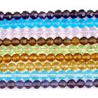 6mm Round Faced Rondelle Glass Crystal Loose Beads Jewelry Making Good Quality