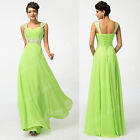 Green+ Long Wedding Evening Dress Formal Party Ball Gown Prom Bridesmaid Dresses
