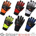 Richa Torsion Motorcycle Gloves Leather Air Guard Mesh Protection Foam Velcro